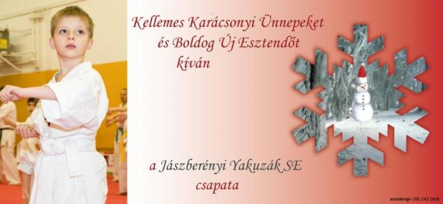 Kellemes Karácsonyi Ünnepeket Kíván a Jászberényi Yakuzák SE!